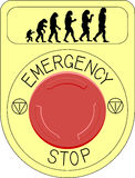 Button. Vector illustration emergency stop button Royalty Free Stock Images