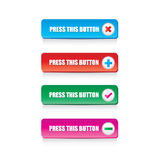 Button Royalty Free Stock Photography