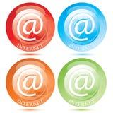 button vektorn för det set symbolet för e-internetpost Royaltyfria Foton