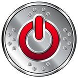 button vektorn för industriell ström för symbolen den blanka Vektor Illustrationer