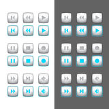 Button video. Set of buttons for video of appendices royalty free illustration