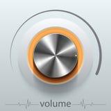 Button volume. Design element  illustration Stock Images