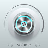 Button volume. Design element  illustration Stock Photography