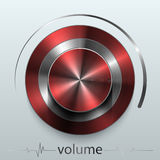 Button volume. Design element  illustration Royalty Free Stock Photos