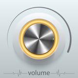 Button volume. Design element  illustration Royalty Free Stock Photo