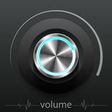 Button volume. Design element vector illustration Royalty Free Stock Photography