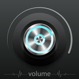 Button volume. Design element vector illustration Stock Photography