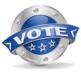 Button with vote. And opinion Royalty Free Stock Photo