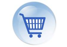 button wózka na zakupy Zdjęcia Stock