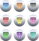 button wózka na zakupy Zdjęcie Stock