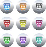 button wózka na zakupy royalty ilustracja