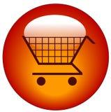 button wózka na zakupy netto Zdjęcie Royalty Free