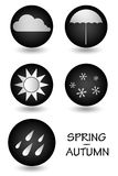 Button weather in autumn and spring Stock Photography