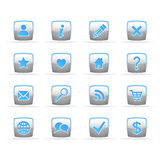 Button web. Set of buttons for the Internet of appendices Stock Image