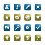 Button web. Set of buttons for the Internet of appendices Stock Images