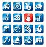 Button for web and communications Stock Photos