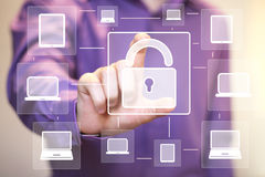 Button web lock security business computer media Royalty Free Stock Images