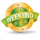 Button with weekend. And en of the week Royalty Free Stock Image