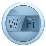 Button wi fi Royalty Free Stock Images
