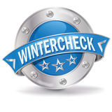 Button winter check Royalty Free Stock Photography