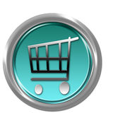 Button With Shopping Car Stock Images