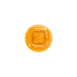 Button, yellow texture, square on inside Stock Image