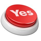 Button yes Royalty Free Stock Photography
