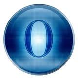 The button zero blue Stock Photo