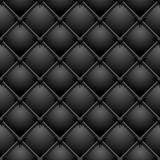 Buttoned black leather Royalty Free Stock Photography