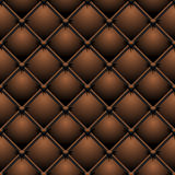 Buttoned brown leather Royalty Free Stock Images