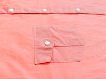 Buttoned pocket of red shirt Royalty Free Stock Photo