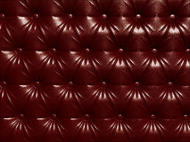 Buttoned red leather Royalty Free Stock Images