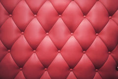 Buttoned red leather background Royalty Free Stock Images