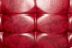 Buttoned on the red Texture. Repeat pattern.  Royalty Free Stock Photo