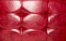 Buttoned on the red Texture. Repeat pattern.  Royalty Free Stock Photography
