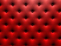 Buttoned on the red Texture. Stock Image