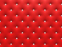 Buttoned red Texture. Repeat pattern. render 3D Stock Image