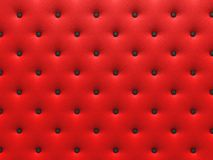 Buttoned red Texture. Stock Photos
