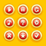 ButtonGameUiVector01 Royalty Free Stock Photography