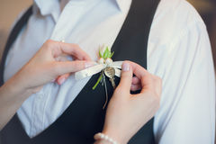Buttonhole Royalty Free Stock Images