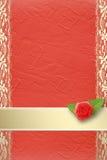 buttonhole karciana zaproszenia koronka ilustracja wektor