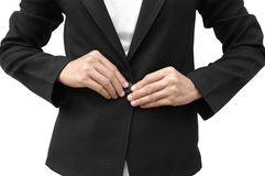 Buttoning Royalty Free Stock Image