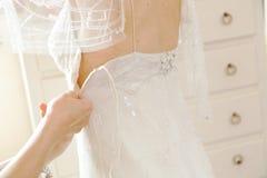 preparation bride stock photo