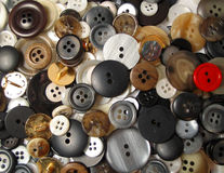 Buttons 1. Assortment of buttons stock images