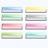 Buttons 1. Eight buttons for web soft coloured Royalty Free Stock Image