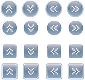 Buttons 1. Vector illustration of web 2.0 style buttons Royalty Free Stock Photos
