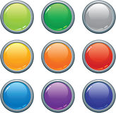 Buttons. Vector illustration of glossy plastic buttons vector illustration