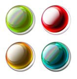 Buttons. Color buttons Royalty Free Stock Image
