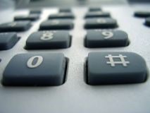 Buttons. Macro photo of the desktop office phone interface stock photography