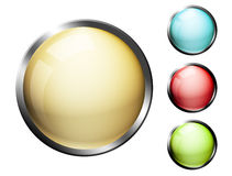 Buttons. Yellow, blue, red and green buttons. High resolution illustration Stock Image